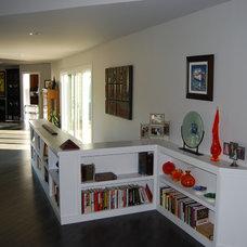 Modern Hall Built in Book Shelves