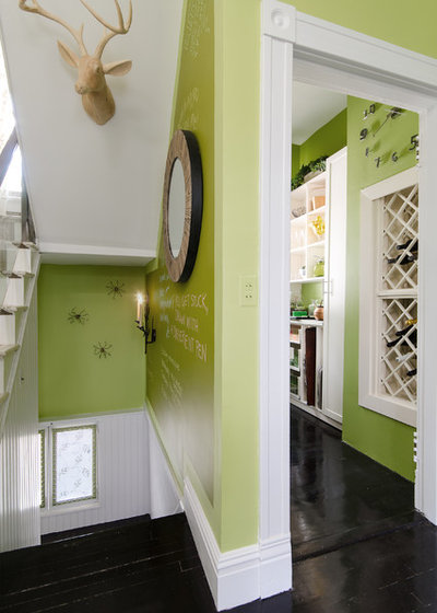 Eclectic Hall by Kathy Corbet Interiors