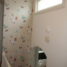 Eclectic Hall butterfly wallpaper