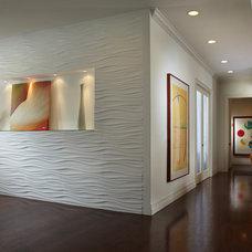 Contemporary Hall by J Design Group - Interior Designers Miami - Modern