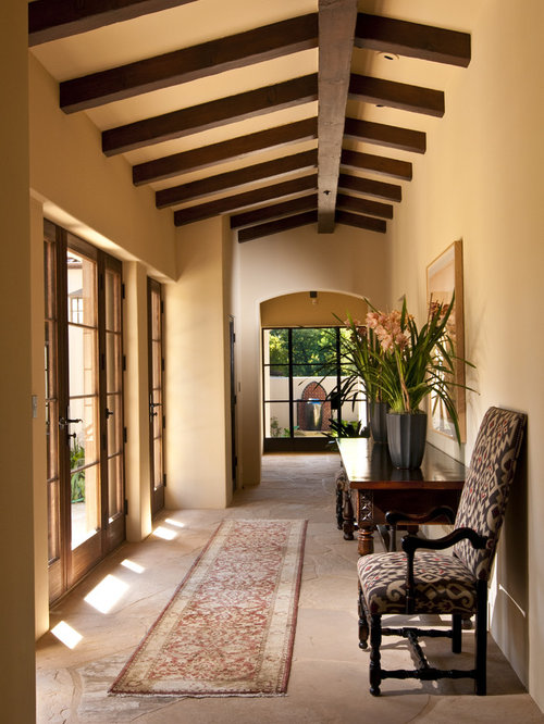 Tuscan Hallway Photo In San Francisco With Beige Walls