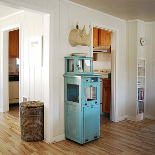 Inspiration for a small beach style hallway in Portland.