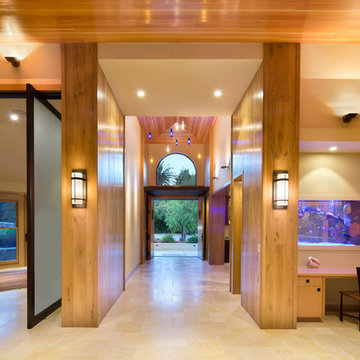 Cathedral Ceiling Entryway of Vertical Grain Douglas Fir