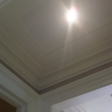 traditional hall Ceiling Trim detail