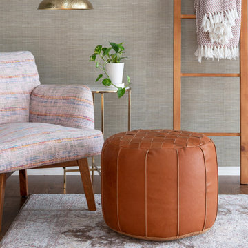 Clapham Genuine Leather Pouf