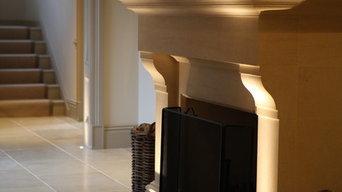 Classical New Build - fireplace lighting