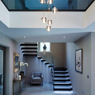 Example of a trendy hallway design in Surrey