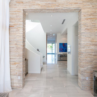 Colonial White Marble Modern Home