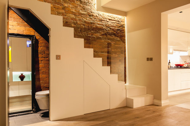 Contemporary Hallway & Landing by Timothy James Interiors