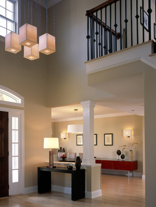 Double Foyer Lighting : Contemporary foyer houzz