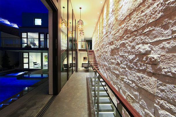 Contemporary Hall by abodwell interior design- Brittney Fischbeck