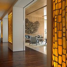 Modern Hall by Amy Lau Design