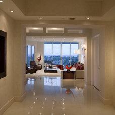 Contemporary Hall by Britto Charette Interiors - Miami Florida