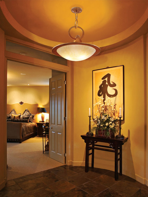 Master bedroom foyer houzz Hallway to master bedroom
