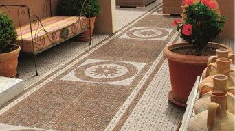 Cordoba Moroccan Style Tiles - Decorative Brown Design - £30.55 per set of 4