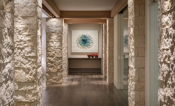 Contemporary Hall by Rosemarie Allaire Lighting Design