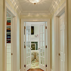 Traditional Hall by Sheila Rich Interiors, LLC