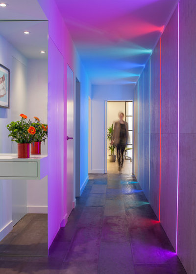 Contemporary Corridor by Cassidy Hughes Interior Design