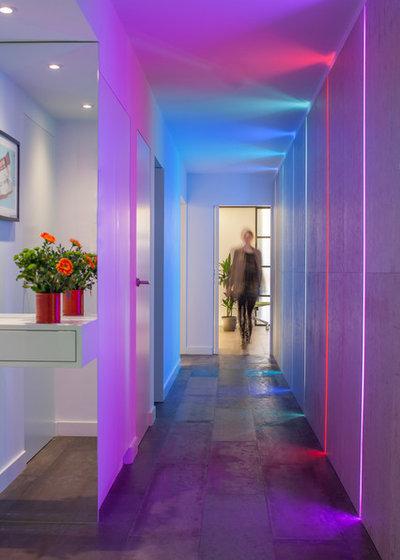 Contemporáneo Recibidor y pasillo by Cassidy Hughes Interior Design