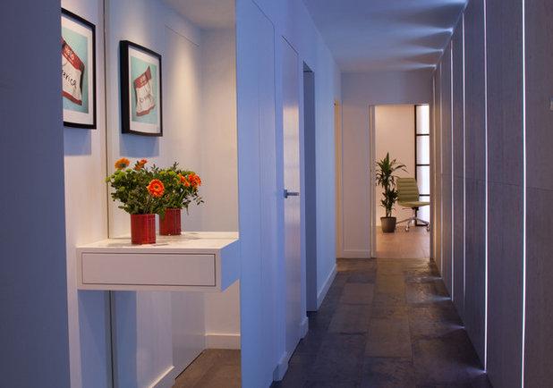 Contemporary Corridor by Cassidy Hughes Interior Design