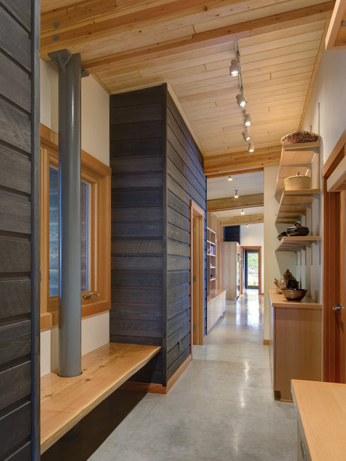 stained wood tongue and groove ceiling | houzz