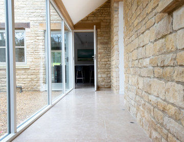 Country Barn: Dijon Brushed Limestone Tiles