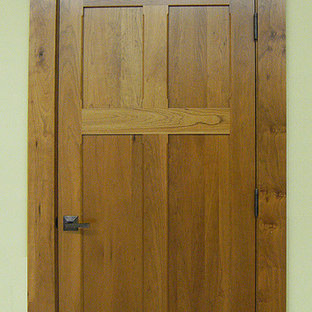 Craftsman Doors - Solid Cherry Wood Reverse 4-Panel Design