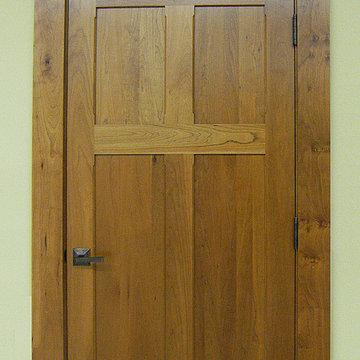 Craftsman Doors - Solid Cherry Wood Reverse 4-Panel Design