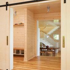 Modern Hall by Ingrained Wood Studios
