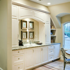 Traditional Hall by Hostetler Custom Cabinetry