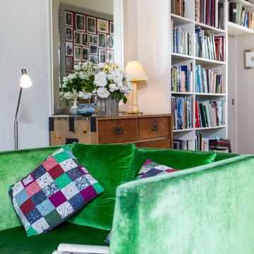 Custom Designed Hallway Bookshelf