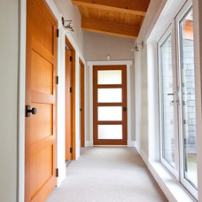 Contemporary Hall by Island Timber Frame