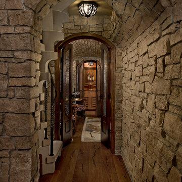 Custom Home Interior Design, Entertaining Area, Wine bar