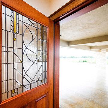 Custom Leaded Glass Door