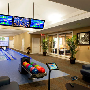 Inspiration For A Contemporary Hallway Remodel In Richmond Save Photo Custom Residential Bowling Alley