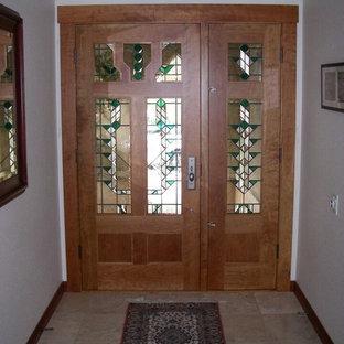 Cette image montre un couloir craftsman.