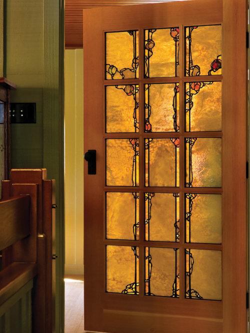 stain glass door inlay home design ideas