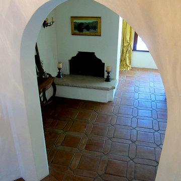 Decorative Archway in a Spanish Revival home in Montecito CA