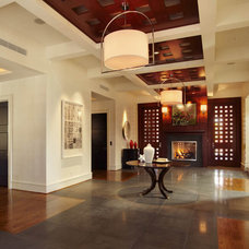 Traditional Hall by dustin.peck.photography.inc
