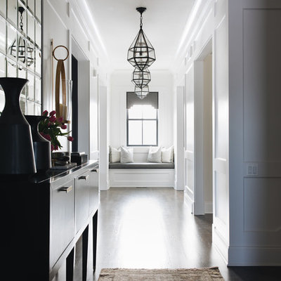 Inspiration for a transitional hallway remodel in Chicago