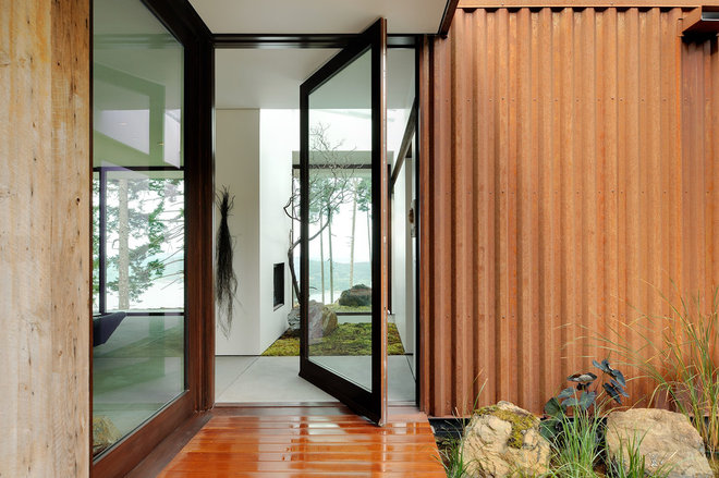 Contemporary Entry by Gary Gladwish Architecture