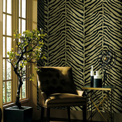 Echo Design Wallpaper Collection - A designer wallpaper collection by Kenneth James from Brewster Home Fashions. Echo is colorful and fresh, with contemporary twists on classic design themes. Mod and happy palette for decor.