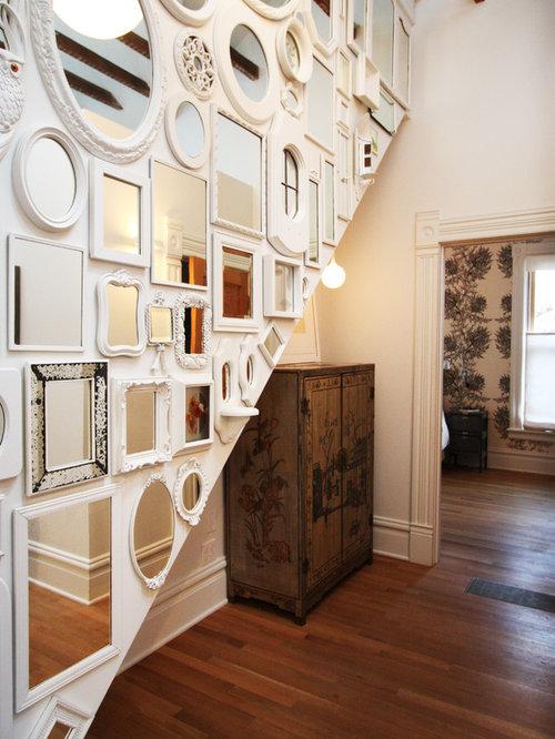 Cool Wall Decorating Ideas Couloir Cadre Miroir Bois Photos Et Id Es D Co De Couloirs