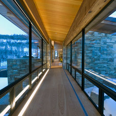 Contemporary Hall by Robyn Scott Interiors, Ltd.