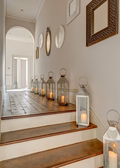 Shabby-chic Style Hallway & Landing by Colin Cadle Photography