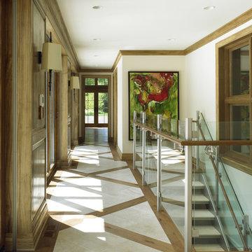 Entryway w Tile & Wood Floor