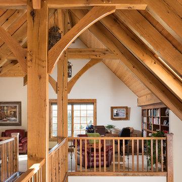 European Inspired Timber Frame Home - Loft