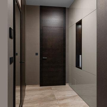 Exclusive interior with dominant veneer furniture