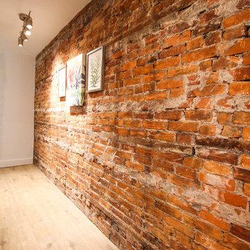 Exposed Brick Hallway