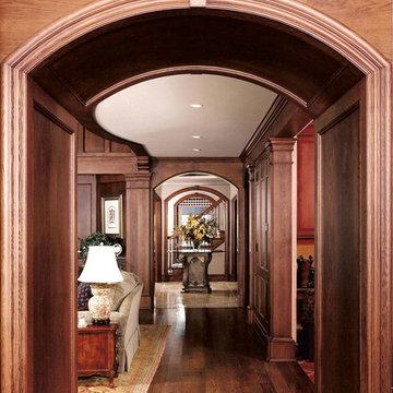 Family Residence, Custom Home, Interior Hallway